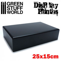 Pedestal rectangular, negro 25x15 cm.