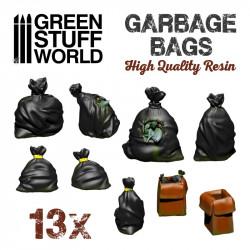 Set de bolsas de basura de resina.
