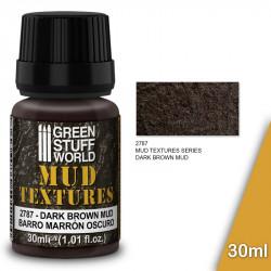 """Pasta textura acrílica """"barro marrón oscuro"""" (30ml)."""