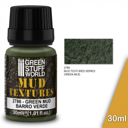 "Pasta textura acrílica ""barro verde"" (30ml)."