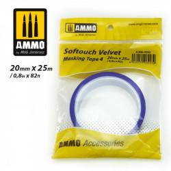 Softouch velvet, Masking tape. 20 mm.