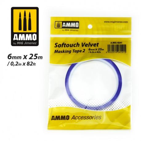 Softouch Velvet, Masking tape. 6 mm.