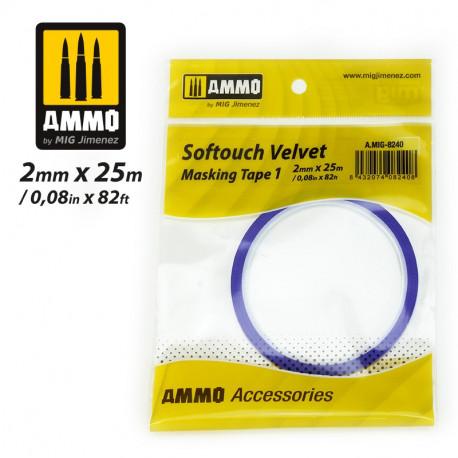 Softouch Velvet, Masking tape. 2 mm.