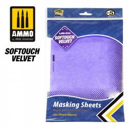 Softouch velvet Masking sheets.