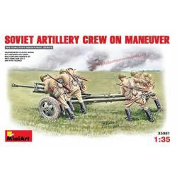 Soviet Artillery Crew on Maneuver.