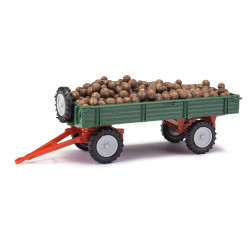 Trailer with potatoes.