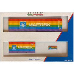Container 20' 40'Maersk Rainbow.