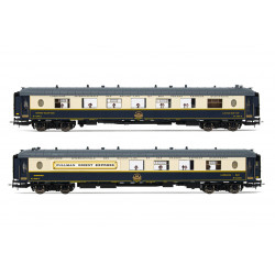 """Set de coches CIWL, """"Côte d'Azur"""" y """"Train Bleu""""."""
