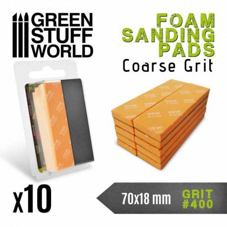 Foam sanding pads. 400 grit (x10).