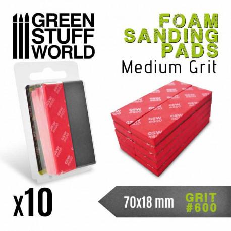 Foam sanding pads. 600 grit (x10).