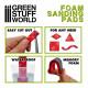 Foam sanding pads. Fine grit assortment (x20).