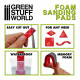 Foam sanding pads. Coarse grit assortment (x20).