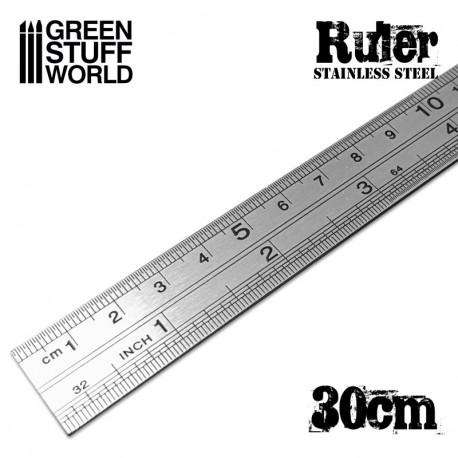 Stainless steel ruler 30 cm.