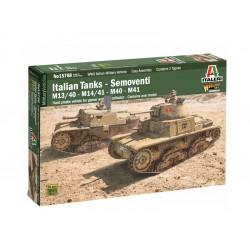Carros italianos: M13/40, M14/41, M40 o M41.
