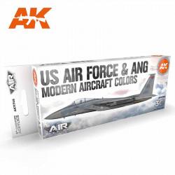 US Air Force & ANG modern aircraft colors.