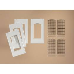 Industrial windows for modular system. AUHAGEN 80709