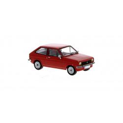 Ford Fiesta, rojo.