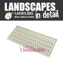 Mold for clay curved bricks, 4x9 mm.