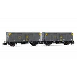 Set of J3 closed wagons, RENFE. Sindicato de la Naranja.