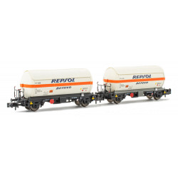 Set of tank wagons PR Repsol Butano, RENFE.