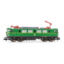 Electric locomotive RENFE 279-011, green livery.