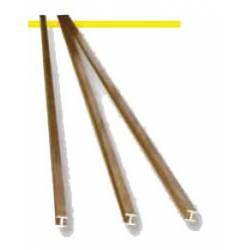 Brass profile H. 1,5 x 1,5 mm.