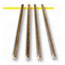 Perfil de latón en T 2 x 2 mm.