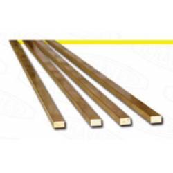 Flat brass profile 2 x 1 mm.