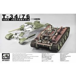 Tanque T-34/76, 1942. Factoría 112. AFV CLUB 35S51