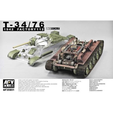T-34/76 Model 1942 Factory No. 112. AFV CLUB 35S51