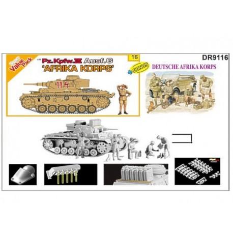 Set Panzer III Ausf.G + D.A.K. Figure set. DRAGON 9116