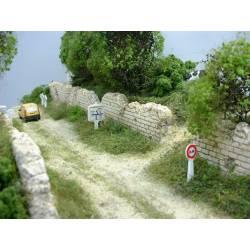 Muro de piedra.