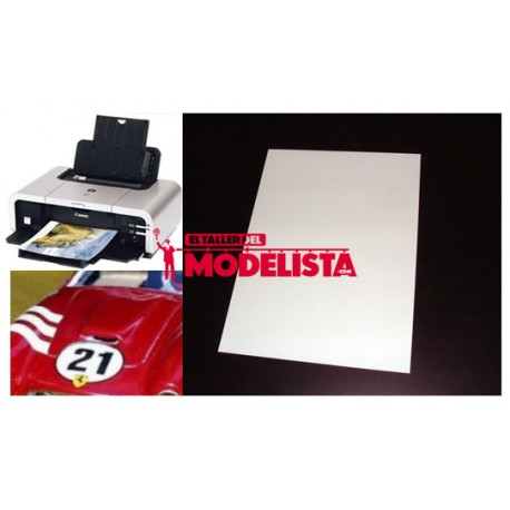 Inkjet water-slide decal clear paper. A2M 18555
