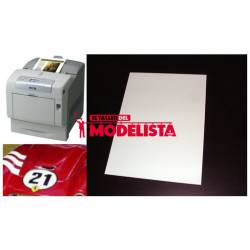Laser/copier water-slide decal white paper.