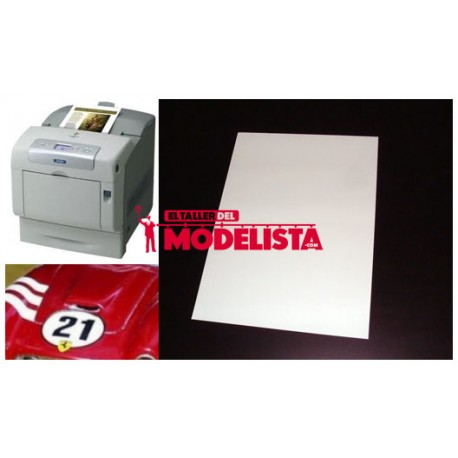Laser/copier water-slide decal white paper. A2M 18566