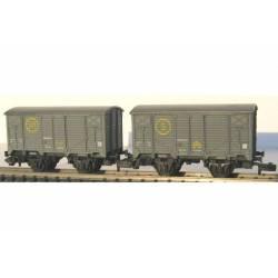 "2 boxcars ""Sindicato de la Naranja"", RENFE."