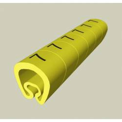 Cable markers, precut, ID-0 (x10)