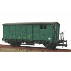 Vagón cerrado con balconcillo J-301918 verde.