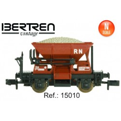 Two axels hopper wagon. Oxide red. IBERTREN 15010