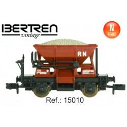 Two axels hopper wagon. Grey. IBERTREN 15011