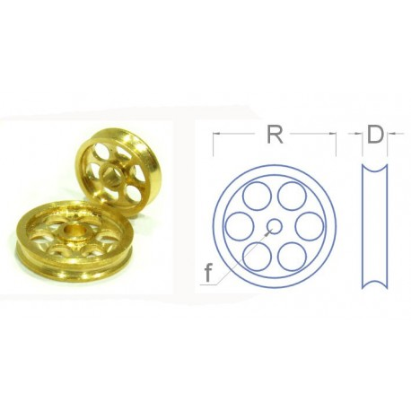 Pulley wheel, 10 mm. RB 010-10