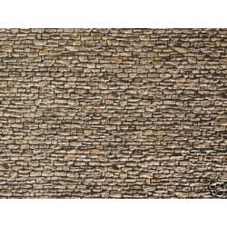 Muro de piedra de cantera.