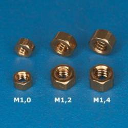 Brass nuts M1,0 (x20).