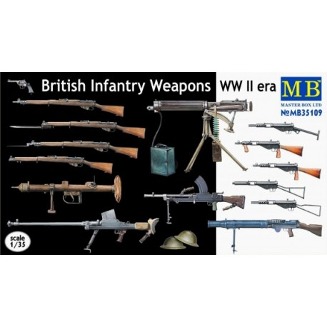 British shooting weapons. MASTER BOX 35109