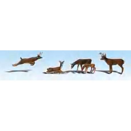 Ciervos. WOODLAND SCENICS A2185