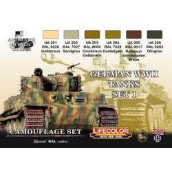 Set 1 Tanques Alemanes WWII. LIFECOLOR CS01
