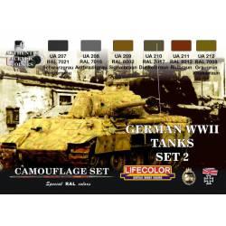 Set 2 Tanques Alemanes WWII. LIFECOLOR CS03