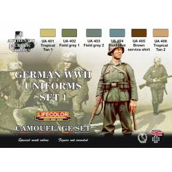 Set 1 Uniformes Alemanes WWII. LIFECOLOR CS04