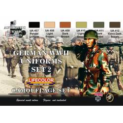 Set 2 Uniformes Alemanes WWII. LIFECOLOR CS05