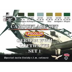 Set 1 Luftwaffe Alemana WWII. LIFECOLOR CS06